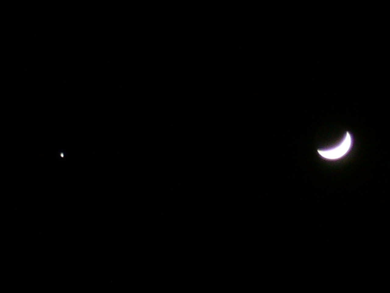 今日の月と木星