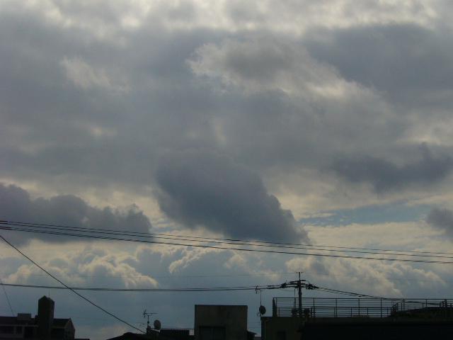 油絵のような空