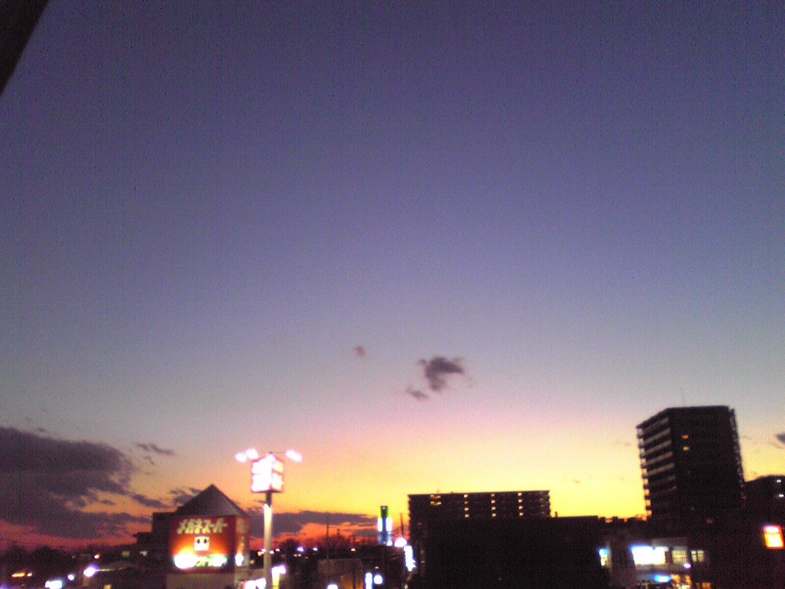 立春の夕焼け