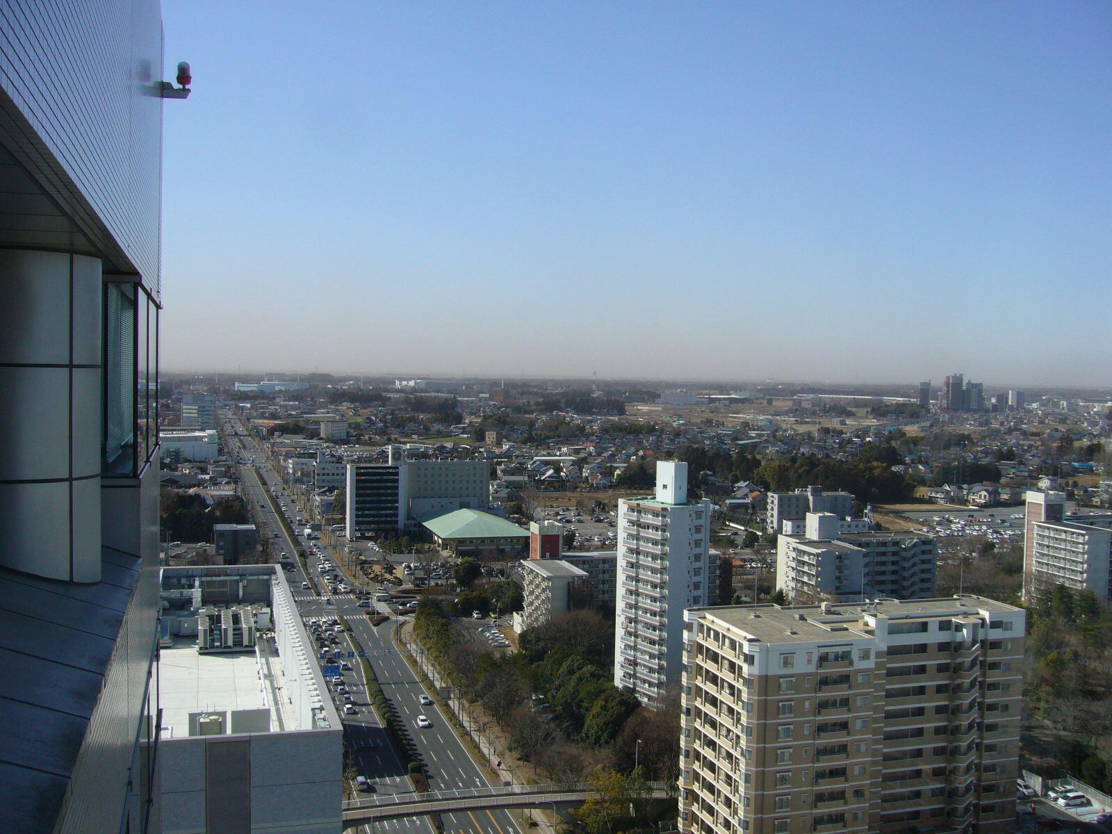 三井ビルから北西を望む。